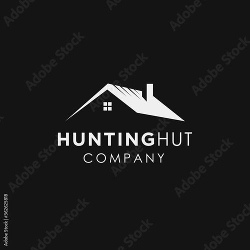 Fotografie, Tablou hunting cabin lodge logo design inspiration