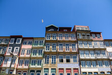 Porto's Famous Buildings While A Bird Flew Past