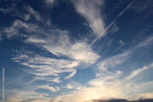 Fotografija Low Angle View Of Vapor Trail In Sky