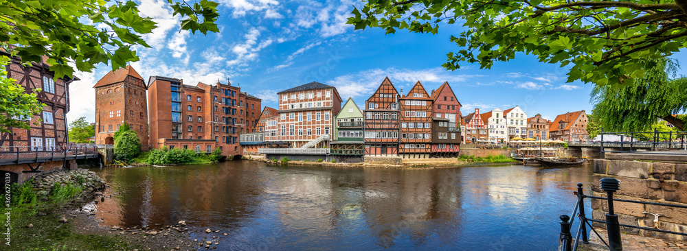 Fototapeta Lüneburg, Germany. The old town with the historic harbor.
