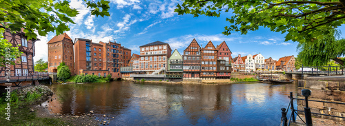 Lüneburg, Germany. The old town with the historic harbor.