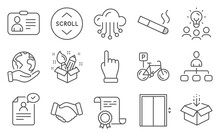 Set Of Business Icons, Such As...