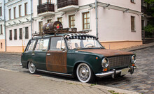 Old Rusty Car On The Street Of Minsk