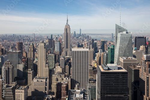 Canvastavla Empire State Building Amidst Cityscape