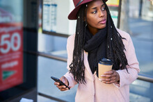 Charming Trendy Dressed Afro A...