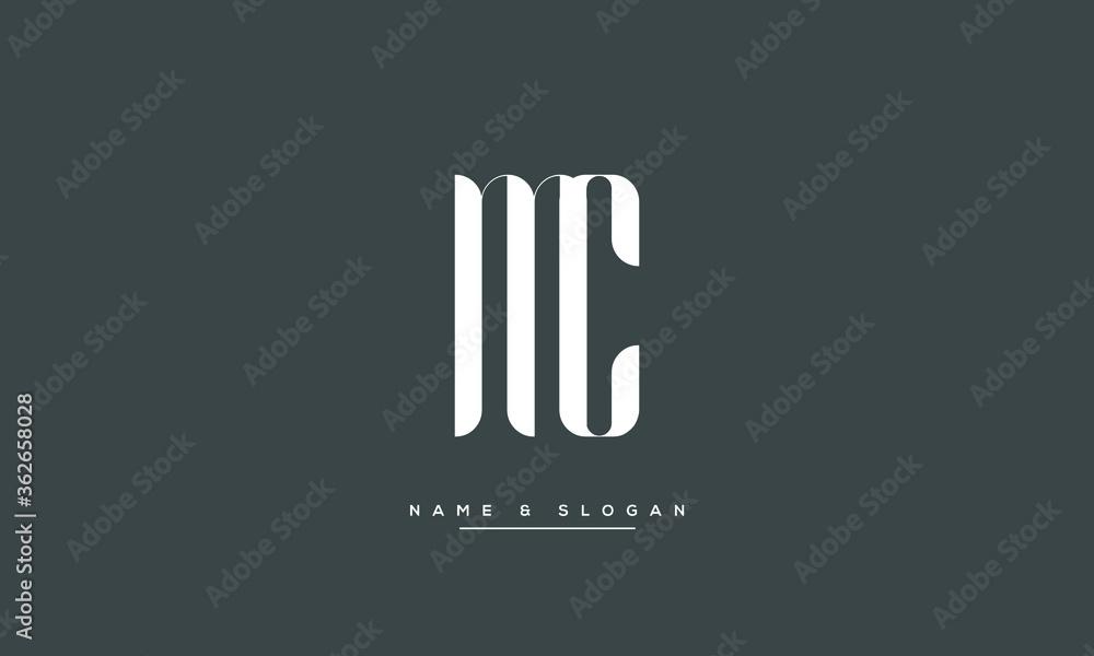 Fototapeta MC ,CM ,M ,C  Abstract Letters Logo Monogram