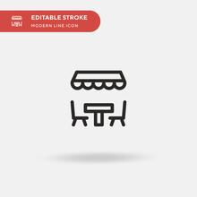 Terrace Simple Vector Icon. Il...