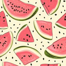 Watermelon Seamless Pattern. H...