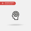 Knowledge Simple vector icon. Illustration symbol design template for web mobile UI element. Perfect color modern pictogram on editable stroke. Knowledge icons for your business project