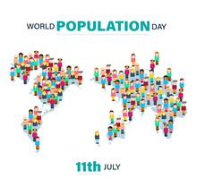 World Population Day, Map Made...