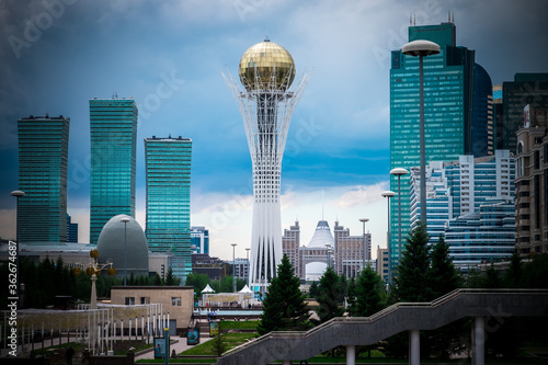 Astana Is The Capital Of The Great Steppe. Canvas Print