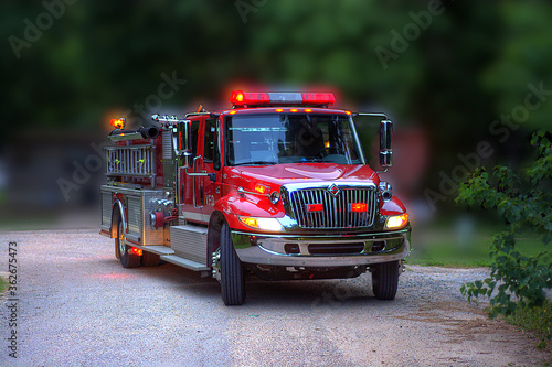Close-up Of Fire Engine On Road Fototapet