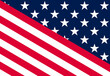 USA background. Vector of USA patriotic background with USA flag elements.