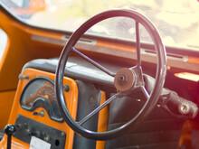 Close-up Of Vintage Car Steeri...
