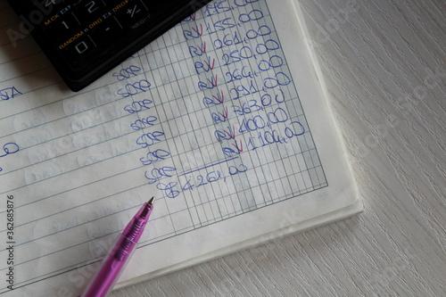 Valokuvatapetti Contabilità e finanza in ufficio - business