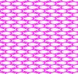 Leinwanddruck Bild - Simple fish pattern seamless repeat background