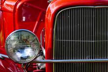 Full Frame Shot Of Red Vintage Car