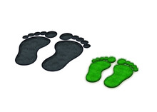 3D Fußabdruck Füße Fußsohl...