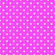Leinwanddruck Bild - Love Heart and Dotted Line Pattern Seamless Repeat Background
