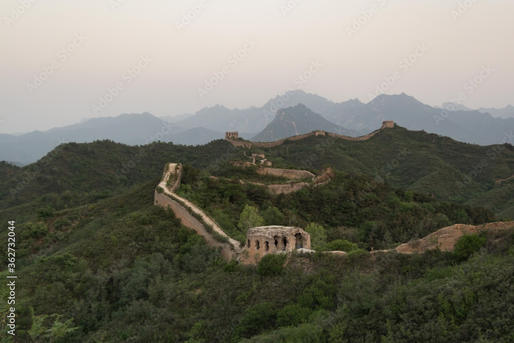 Fotografie, Obraz Great Wall Of China At Sunrise