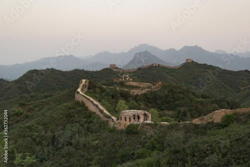 Obraz na plátně Great Wall Of China At Sunrise