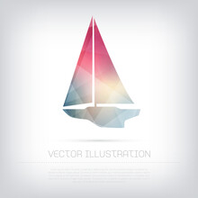 Vector Sailboat Icon