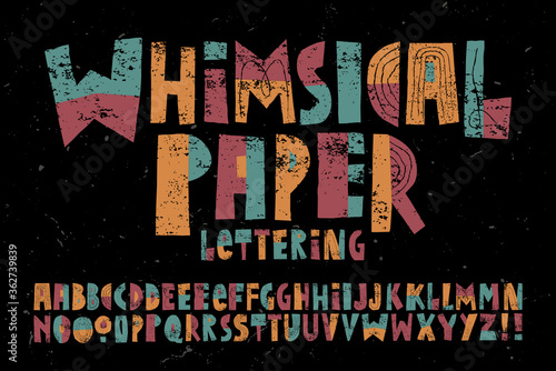 Stampa su Tela A Happy, Playful and Whimsical Alphabet with a Childlike Quality