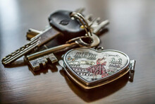 Close-up Of Heart Shaped Key R...