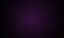 Dark Violet Background. Dark Hexagon Carbon Fiber Texture. Violet Honeycomb Metal Texture Steel Background. Web Design Template Vector Illustration EPS 10.