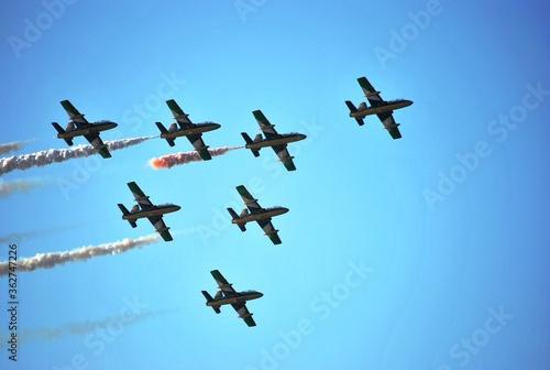 flight show formation Wallpaper Mural