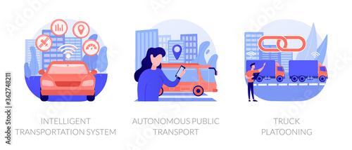 Smart traffic management, Internet of Things Wallpaper Mural