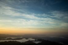 Scenic View Of Silhouette Moun...