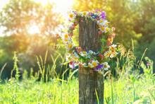Rustic Wildflowers Wreath. Sum...