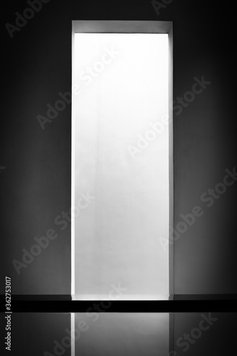 Background of home wall concrete void with natural ambient light on behind