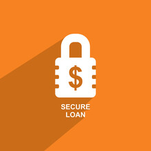 Secured Loan Icon, Business Ic...