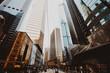 Leinwandbild Motiv Low Angle View Of Modern Buildings In City Against Clear Sky