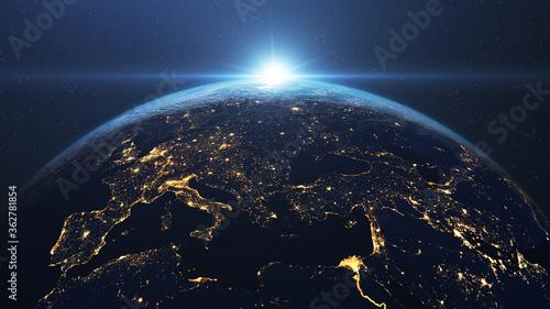 Canvastavla Satellite View Of Earth