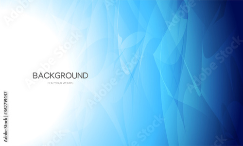 Fototapeta Abstract background vector illustration. Gradient blue with transparent geometric shapes. obraz