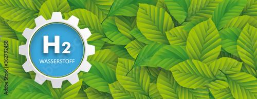 Grüne Energie Wasserstoff Canvas Print