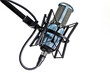 canvas print picture - Close-up Of Microphone Against White Background