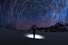 Circular Star Trails Facing No...