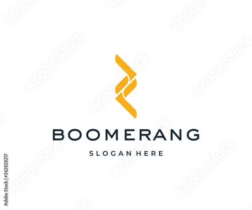 Boomerang logo design template vector Canvas Print