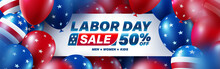 USA Labor Day Sale Poster Temp...