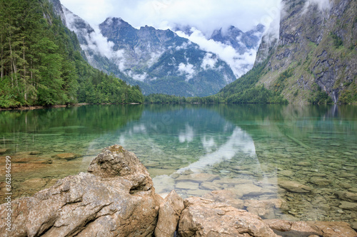 Fototapety, obrazy: Scenic View Of Lake And Mountains Against Sky
