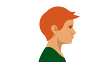 Red-haired Boy. Portrait Side ...