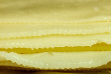 Cheese Slices Stacked In Macro