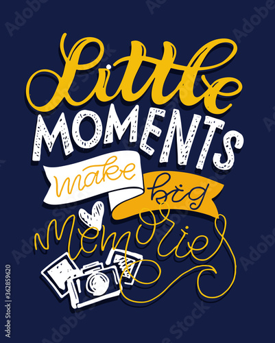 Fotografija Motivation cute hand drawn doodle lettering quote abot life