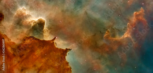 Obraz Hubble image of the  Eagle Nebulaas Pillars of the Creation. Elements of this image furnished by NASA. - fototapety do salonu
