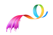 Beautiful Colorful Ribbon With...