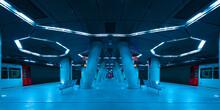 Interior Of Illuminated Subway...